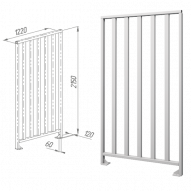 Oxgard ограждения полноростовые нержавеющая сталь ВЗР2443.01-02